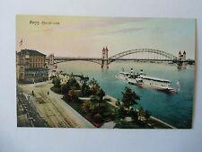 Ansichtskarte Bonn um 1900?? Rheinbrücke Schifffahrt Schiff