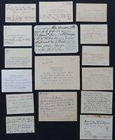 LOT de 16 CARTES de VISITE autographes / LITTERATURE #7