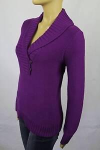 Ralph Lauren Purple Shawl Collar Buttoned Sweater NWT