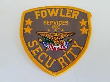 FOWLER SECURITY SERVICES INC. Patch, New