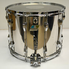 """Used Ludwig 12""""X15"""" Super Sensitive Stainless Steel Marching Style Snare Drum"""