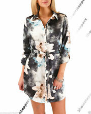 Unbranded Collar Mini Shirt Dresses