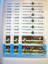 """SAN MARINO 1990 - Lotto 18 BF usati """"Campionato del mondo di calcio"""""""
