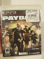 Payday 2 PS3 Game Sony Playstation Overkill Tested Complete 505 Games