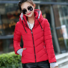 Women Warm Short Down Solid Hoodie Winter Blazer Slim Jacket Outwear Hoody Coat