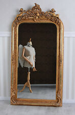 Barockspiegel Spiegel Antik Rot Gold Wandspiegel Engel Standspiegel Kaminspiegel