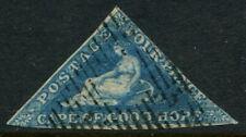 CAPE OF GOOD HOPE - 1853 QV 4d 'BLUE' FU SG4a Cv £200 [A9472]