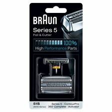 Braun 51S Series 5 Electric Shaver Replacement Foil & Cassette Cartridge, Silver