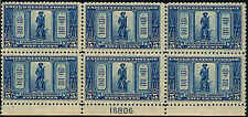 1925 US Stamp #619 A183 5c Mint NH Plate Block of 6 Catalogue Value $440