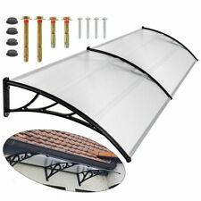 2m Markise Regenschutz Haustür Vordach Veranda Außenschirm Terrassendach