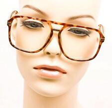 Large Brown Tortoise Silver Hangover Nerd Geek Hipster Eyeglasses Frames 8660 TT