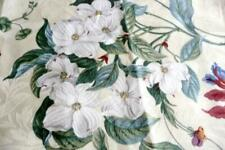COLONIAL WILLIAMSBURG Garden Images PARCHMENT Fabric 59x56 Remnant upholstery