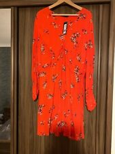 BNWT M&S COLLECTION BEAUTIFUL RED FLORAL TEA DRESS SIZE 20 LIGHTWEIGHT