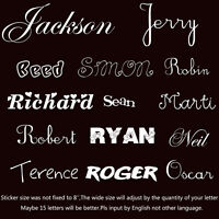 Custom Text Personalised Message Lettering Vinyl Stickers Graphics Decal