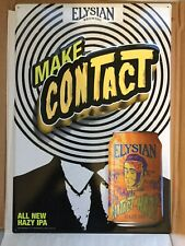 ELYSIAN BREWING Seattle MAKE Contact Haze IPA Tacker Tin Metal Sign BUZZ HIGH