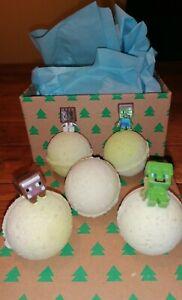 MINECRAFT toy inside Vegan hand made Bath Bombs 4 +1 free organic ingredients 💯