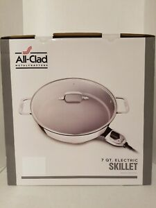 All-Clad SK492 Electric Skillet with Adjustable Temperature Dial, 7 Quart, S.S.