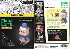 looney tunes porky pig metal earth legends 3 d laser cut steel model kit new - Blue Christmas Porky Pig Video