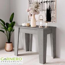 Tavolo consolle allungabile GRACE cemento moderna salvaspazio 14 posti design
