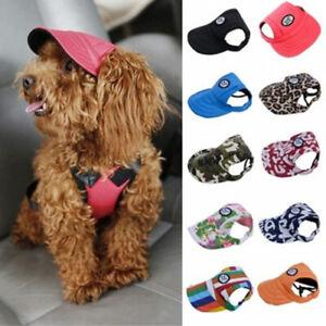 Size S-XL Cool Puppy Pet Dog Canvas Visor Sunbonnet Baseball Sun Hat Outdoor Cap