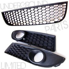 VW POLO 9N3 GTI FRONT BUMPER LOWER HONEYCOMB FOG LAMP LIGHTS GRILLES SET VENTS
