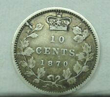 "1870 Canada 10 Cent Dime ""NARROW O"""