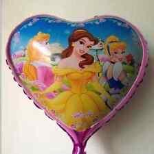 "18"" Disney Princess Foil Helium Balloon heart shaped Girls Party"