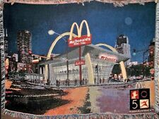 McDonald's 50th Anniversary Woven Throw Blanket 2005 50 Years & I'm Lovin' It