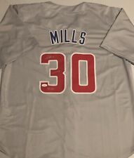 ALEC MILLS Signed Chicago Cubs Grey Custom Baseball Jersey No Hitter 9/13/20 JSA