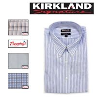 NEW Kirkland Signature Men's TRADITIONAL Button Collar Dress Shirt HUGE VARIETY!