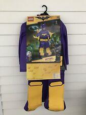 Batgirl Lego Costume Kids Size M 7-8 Complete Full Body Purple Female Superhero