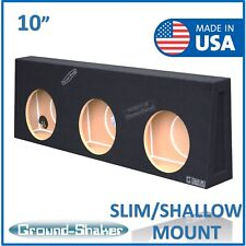 "Gmc Sierra Regular Cab / Single cab 10"" Triple shallow subwoofer box Enclosure"