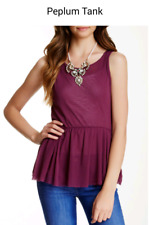 Sweet Pea Peplum Tank (S) NEW $58 Hibiscus Purple by Stacy Frati Anthropologie