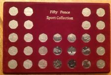 2012 sports collection 50p coin display tray case board &full set olympics 50p's