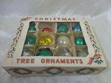 Christmas Ornaments 1950s Balls Baubles Boxed Holiday Vintage Xmas Decor