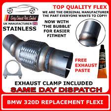 BMW 320D Scarico Flexi FLEX facile riparazione DPF, CAT TUBO catalizzatore inox
