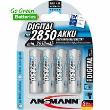 4x Ansmann AA 2850 mAh NiMH Rechargeable Batteries Photo HR6