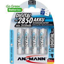 4x Ansmann AA 2850 mAh NiMH Rechargeable Batteries Photo HR6