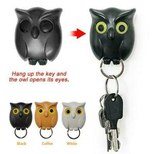 Night Owl Magnetic Wall Key Holder Keychains Hook Hanging Open Will Eye Key Fast