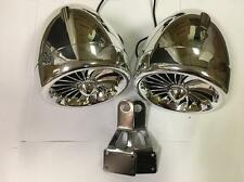 2 300 watt chrome waterproof marine motorcycle atv speakers with mirror brackets