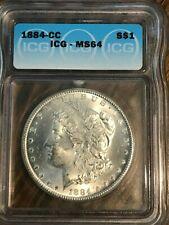 1884 Carson City ICG MS64 Morgan Silver Dollar----90% SILVER