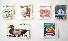Unused Stamps 2¢Stravinsky 3¢Conestoga 5¢CircusWagon 10¢Jefferson 22¢FolkArt 33¢
