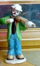 "Flambro Collections, Clown 6"" Playing The Violin, Great Condition"