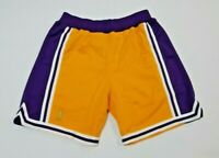 Mitchell & Ness Men's NBA Los Angeles Lakers 1996-97 Authentic Shorts (Pur/Gold)