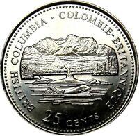 1992 Canada 125th British Columbia 25 Cents Gem BU UNC Quarter!!