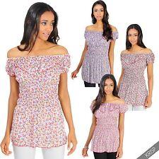 Hüftlange Kurzarm Damenblusen, - tops & -shirts im Tuniken-Stil für die Freizeit
