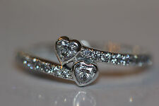 #41 Authentic New Pandora #191023CZ-58 Forever Hearts Ring with Clear CZ Size 6