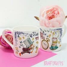 Alice in Wonderland Mad Hatter Bonkers China Mug Time for Tea Cup Work Gift AW04