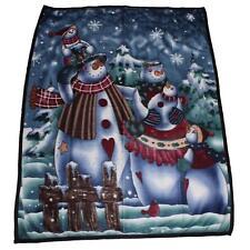 Premier Navidad Diversión Manta Polar Suave Tirar 1.6 X 1.3 metros-Muñeco de nieve