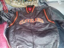 VINTAGE 80'S CLEVELAND BROWNS AUTHENTIC NFL BRAND FOOTBALL JACKET SZ XLARGE NICE